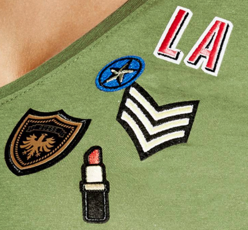 patches, badges, military, fashion, military fashion, lipstick, eagle, star, womens fashion, mens fashion, embroidery, trend, trending, girls, apparel, apparel design, surface design