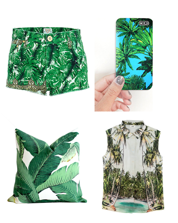 Palms, Floral, Screen print, Green, Womenswear, Menswear, Pattern, Surface Design. Graphic Design. Print Design, SS2016, Runway, Fashion, Jungle Print