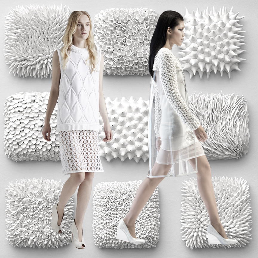 SS 2016, WOMENS WEAR, COLOR TREND, WHITE, KNITS, TEXTURE, FASHION, RUNWAYS, TREND WATCH, BULKY KNIT, KNIT PATTERN